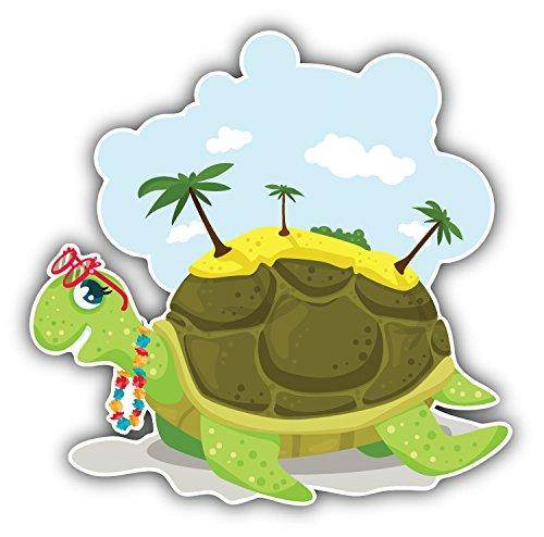 Funny Sea Turtle Auto-Dekor-Vinylaufkleber 12 X 12 cm -