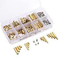 Andoer 240PCS M2 M3 Screws Threaded Standoffs Male Female Brass Standoff Spacer PCB Board Hex Screws Nuts Assortment Kit Hardware