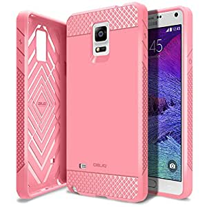Galaxy Note 4 Case, Obliq [Non-Slip] [Slim Fit] Samsung Galaxy Note 4 Case [Flex Pro] [Pink] Premium Soft Anti Shock Protection Jelly Case - Verizon, AT&T, Sprint, T-Mobile, International, and Unlocked - Case for Samsung Galaxy Note 4 IV SM-N910S Late 2014 Model