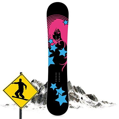 Coole Art ikel Snow board della pellicola/Snow board Wrap con motivo, design e schermo per snowboard da decorare in diversi stili, Smoking Girl, Motiv: Pink Lady, 28 x 150 cm