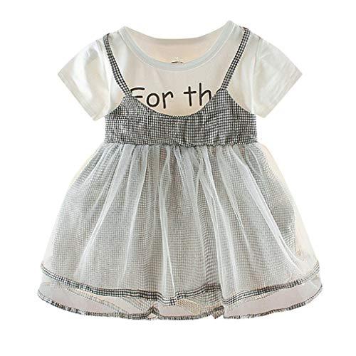 Babybekleidung Baby Yesmile Sommer Mädchen Prinzessin Kleid Kurze Ärmel Festzug Taufkleid Hochzeit Partykleid Mädchen Kleidung Familie Kleid Strandkleid Mesh Sling ()