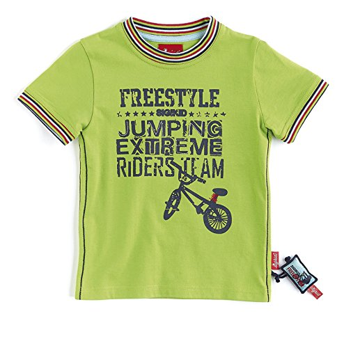 Sigikid Jungen T-Shirt Mini Kollektion Bike Tour Gr. 122, Grün (greenery 329)