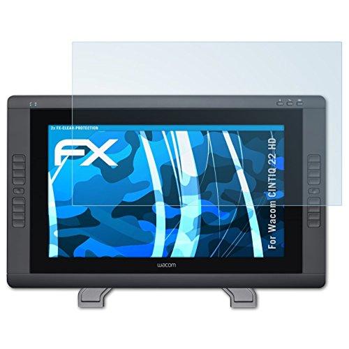 atFoliX Schutzfolie kompatibel mit Wacom CINTIQ 22 HD Folie, ultraklare FX Displayschutzfolie (2X)