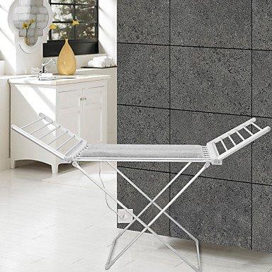 FAYM@ 120w Handtuchwärmer Aluminium eloxiert Wäscheständer freistehend , 220-240V - Freistehender Wäscheständer