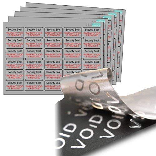 240X Tamper Evident etiquetas seguridad VOID material