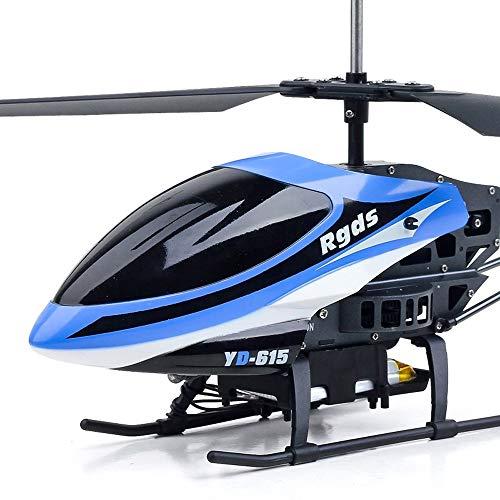 Ycco 4,5-Kanal-Fernbedienung Hubschrauber mit LED-Leuchten, tropfenfeste Legierung Drohne Spielzeug Geschenk Skelett Fallschutz Hubschrauber Kinderspielzeug for Jugendliche Jungen Mädchen Geschenk (bl