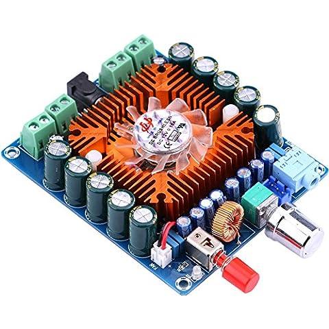 Yeeco TDA7850 Digital Amplificador Audio Alta Fidelidad Ampli Junta Audio Estéreo Amplify 50W * 4 DC 12-16V Junta AMP Canales con Ventilador Refrigeración para El Kit Sistema Sonido Coche Altavoz Ordenador Principal Altavoz