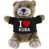 Multifanshop Kuscheltier Bär Classic I Love Kuba beige - Lustig Witzig Sprüche Party Stofftier Püschtier
