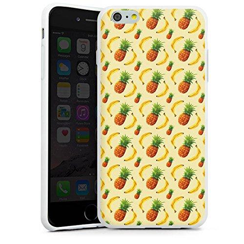 Apple iPhone X Silikon Hülle Case Schutzhülle Ananas Banane Sommer Silikon Case weiß