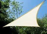 Tende a vela Kookaburra - Triangolo rettangolo 4,2m x 4,2m x 6m Avorio Intrecciata Traspirante