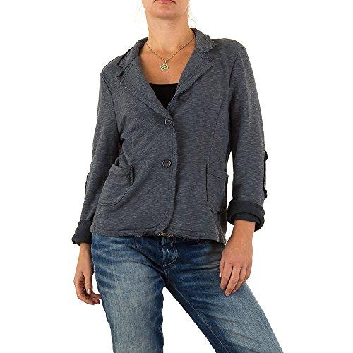 Stretch Blazer Jacke Für Damen , Grau Bei Ital-Design (Blazer Design)