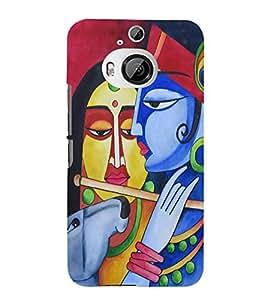 PrintVisa Radhe Krishna Radhey 3D Hard Polycarbonate Designer Back Case Cover for HTC One M9 Plus :: HTC One M9+ :: HTC One M9+ Supreme Camera