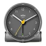 Braun BNC001GYGY Classic Analog Quartz Alarm Clock