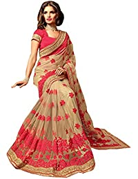 Bigben Women's Embroidery Designer Saree With Blouses