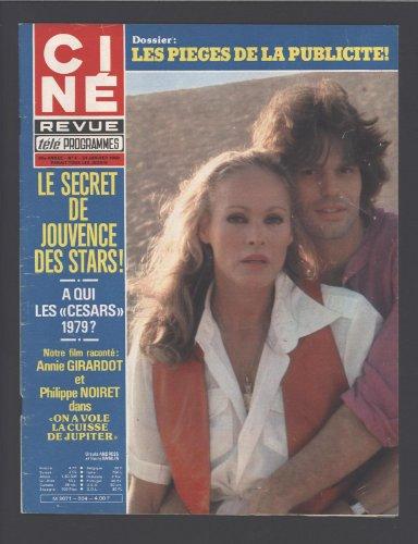 CINE TELE REVUE [No 4] du 24/01/1980 - LES PIEGES DE LA PUBLICITE. A QUI LES - CESARS - 1979 ? FILM RACONTE - ANNIE GIRARDOT ET PHILIPPE NOIRET DANS - ON A VOLE LA CUISE DE JUPITER - URSULA ANDRESS ET