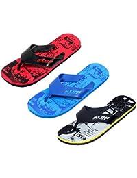 2a50d74e69bcb IndiWeaves Men Step Care Comfortable Flip Flop House Slipper and Hawaai  Chappal Office Slipper-Printed