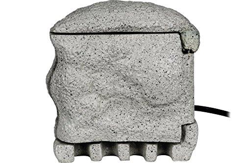 HEITRONIC 4-fach Steinsteckdose PIEDRA 5m Kabel Gartensteckdose Stein granitoptik - B-WARE