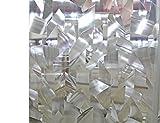 Liveinu Fensterfolie Statisch Sichtschutz Fensterfolie Dekorfolie Sichtschutzfolie Anti-UV 3D Fensterschutzfolie Ohne Klebstoff Selbsthaftend für Privatleben Wohnung Büro 90x300cm Geometrisch Muster 4