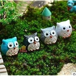 Treasure-House - Adorno en miniatura para jardín de hadas o casa de muñecas, diseño de búhos, 20 piezas