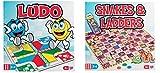 Zweimal der Spaß! 2X Traditionelle Spiele - Schlangen und Leitern und Mensch ärgere dich nicht. Zwei große Spiele-Klassiker! Ein Spaß für die ganze Familie.
