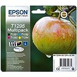 Encre d'origine EPSON Multipack Pomme T1295 : cartouches Noir, Cyan, Magenta et Jaune