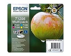 Epson Original T1295 Tinte, Apfel, Wisch- Und Wasserfeste (Multipack, 4-farbig) (Cymk)