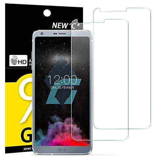 NEW'C Verre Trempé pour LG G6,[Pack de 2] Film Protection écran - Anti Rayures - sans Bulles d'air -Ultra Résistant (0,33mm HD Ultra Transparent) Dureté 9H Glass
