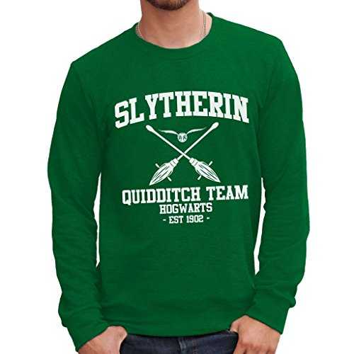 MUSH Sweatshirt Slytherin Quidditch Harry Potter - Film by Dress Your Style - Herren-S-Grün