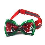 PerHaustier Weihnachten Fliege Verstellbar Mit Schönen Kleinen Glocke Und Weihnachten Muster Halskette Für Katze Klein
