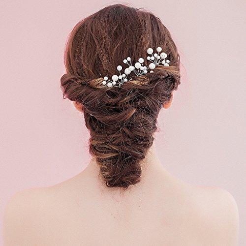 1pcs Horquilla de Cabello Pasador Clip de Pelo Nupcial Perlas de Imitación