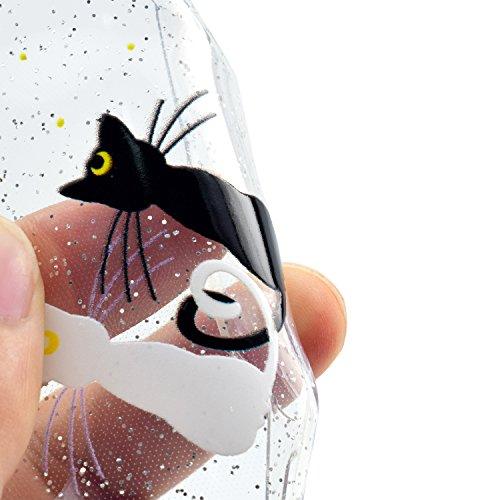 iphone 6S Plus Hülle, iphone 6 Plus Handyhülle, iphone 6 6S Plus Schutzhülle, Cozy Hut Extra Dünne Soft iphone 6 Plus/6s Plus Case Schale Anti-Fingerabdruck Stoßfest Bumper Case Handyhülle Schutzhülle Katzenmond