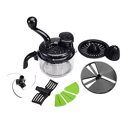 Wonderchef 63152405 Turbo Chopper and Citrus Juicer, Black
