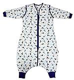 Schlummersack Schlafsack mit Beinen Winter-Variante in 3.5 Tog mit abnehmbaren Ärmeln - Dinosaurier - 3-4 Jahre/110 cm