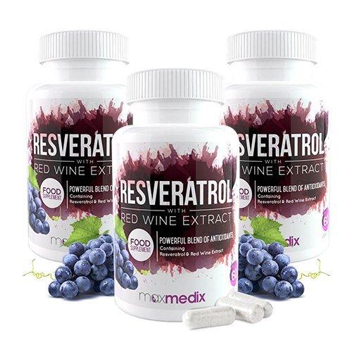 Resveratrol™ - Das Original - Mulitpacks | 100% natürlicher Rotwein-Extrakt - Stärkt die Gesundheit, steckt voller Antioxidantien & hilft beim Abnehmen (3)