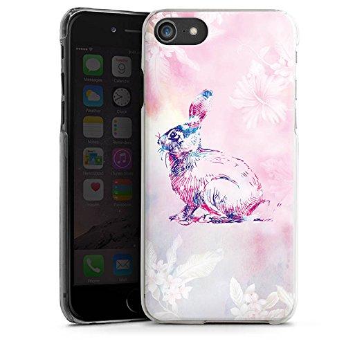 Apple iPhone X Silikon Hülle Case Schutzhülle Hase Häschen Bunny Hard Case transparent