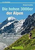 Die hohen 3000er der Alpen: Die Normalwege auf alle 404 Gipfel zwischen 3500 und 4000 Metern (Erlebnis Bergsteigen) - Richard Goedeke