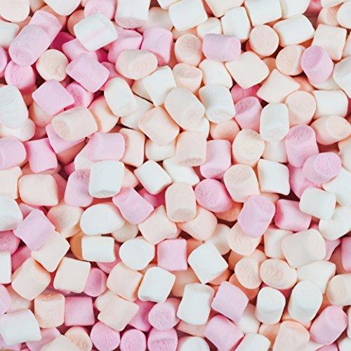 500g Louisiana Mini-Marshmallows - lecker softes Naschwerk Schaumzucker-Tubes - beste Qualität - 4 verschiedene Farben - verpackt zu je 50 g - zum Backen Dekorieren Kindergeburtstag Wurfmaterial und als Gastgeschenk - ohne Fett (Leicht Zu Machen Halloween Cupcakes)