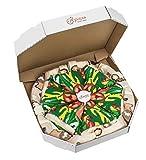 Pizza Socks Box - Italiana - 4 paia di CALZINI Divertenti di COTONE, Originali e Unici - REGALO perfetto - Gadget Colorato  per Donna e Uomo, EU 36-40, Prodotto in Europa