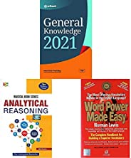 General Knowledge 2021+Analytical Reasoning (2018-2019) Session by MK Panday+Word Power Made Easy(Set of 3 boo
