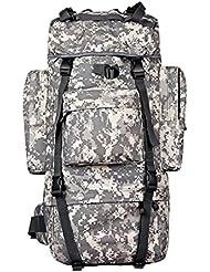 sac extérieur homme alpinisme sac à dos 65L tactique Sac à dos Backpack Voyage grande capacité