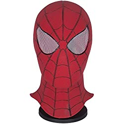 Yacn Spider-Man Homecoming - Spiderman Hood Máscara Comics Hero Headgear Costume Cosplay para Adultos y Adolescentes (red)