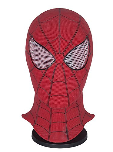 Yacn Spider-Man Homecoming - Spiderman Hood Mask Comics Hero Headgear Costume Cosplay for Adult and Teens (red) (Rave Kostüm Männlich)