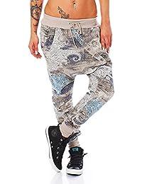 ZARMEXX Señoras de moda los pantalones de chándal harem de los pantalones anchos Harem Salón novio Deportes Loose Fit