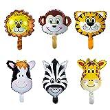 Vordas 12 Stück Folienballon Tiere, Luftballons Tiere Kindergeburtstag - Helium ist Erlaubt, Perfekt für Kinder Geburtstag Party Dekoration (Größe: ca.20cm)