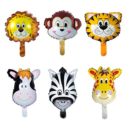 Vordas 12 Piezas Globos Animales Cumpleaños, Globos Animales Helio - Helio está Permitido, Decoración de la Fiesta de Cumpleaños de los Niños (Tamaño: 20cm)
