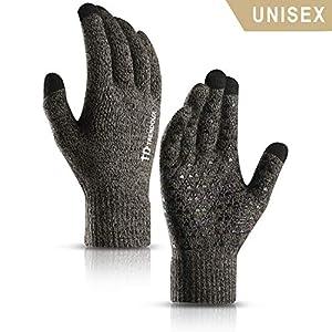 TRENDOUX Winterhandschuhe Herren Damen Touchscreen Warme Thermohandschuhe – Rutschfester Griff – Dehnbares Material