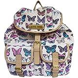 New Designer Anna Smith Butterfly, Butterflies, Print Retro Vintage Rucksack Ladies Backpack