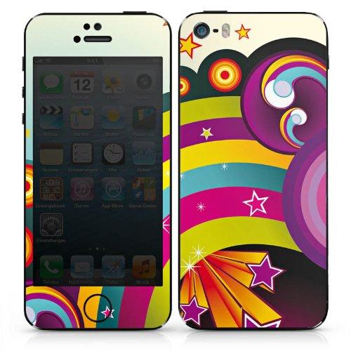 Apple iPhone 3Gs Case Skin Sticker aus Vinyl-Folie Aufkleber Regenbogen Bunt Sterne DesignSkins® glänzend