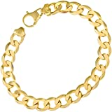 Citerna 22 cm/8.5 inch Length and 10 mm Width 27.1 g Curb 9 ct Yellow Gold Bracelet