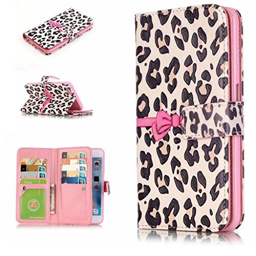 BoxTii® - Custodia in pelle PU a portafoglio con cover in silicone per Apple iPhone 6/iPhone 6s, con supporto, con 6 porta tessere, funzione chiusura magnetica staccabile, Ecopelle, #7 Love, Samsung G #11 Pink